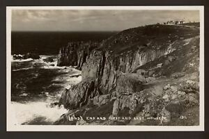Cornwall-Lands-End-First-amp-Last-House-Vintage-Real-Photo-Postcard