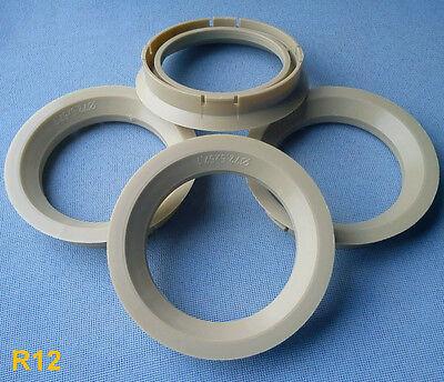 2 x ZENTRIERRINGE DISTANZRING ALUFELGEN R12 72,5-57,1 mm Alloytec ASA NEU