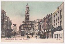 Colchester, High Street & Town Hall JWS Postcard, B664