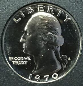 See Zoom BU WASHINGTON Quarter 1970 S---PROOF