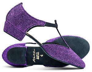 Katz Black Glitter Dance Shoes