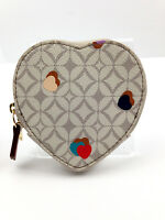 Fossil Women's Sweetheart Coin Purse Wallet - Heart Shaped Free Shipping