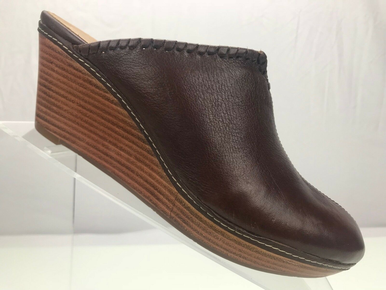 Jack Rogers Closed Simone Wedge Mules- Slide Closed Rogers Toe Brown Platform Clogs Womens 8 M 5c1b0e