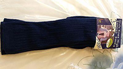 Affidabile Ragazzi Ragazze Blu Scuro 2 Pack Calzini Al Ginocchio School Nuovo Con Confezione Taglia 12-3.5 Euro 31-35-mostra Il Titolo Originale Rinfresco