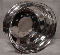24.5 10 Lug Hub Pilot Polished Dual Dually Wheels Rims