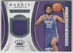 reputable site 47f15 f08ae Details about 2018-19 Panini Crown Royale Marvin Bagley III RC Jersey  Sacramento Kings Rookie
