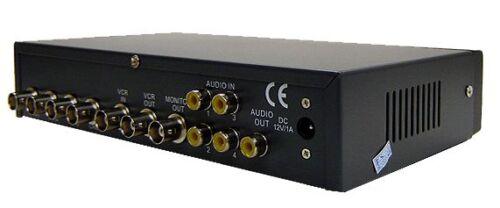 4-Channel Quad Video Picture-In-Picture Video Processor