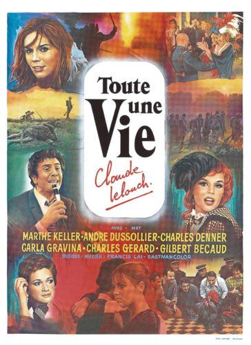 Claude Lelouch Toute une vie Marthe Keller poster 2