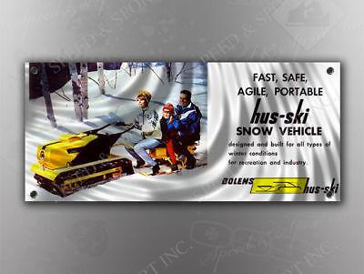 VINTAGE MERCURY 1969 250E SNOWMOBILE BANNER