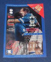 Birmingham City -v- Wolverhampton Wanderers  1995-1996