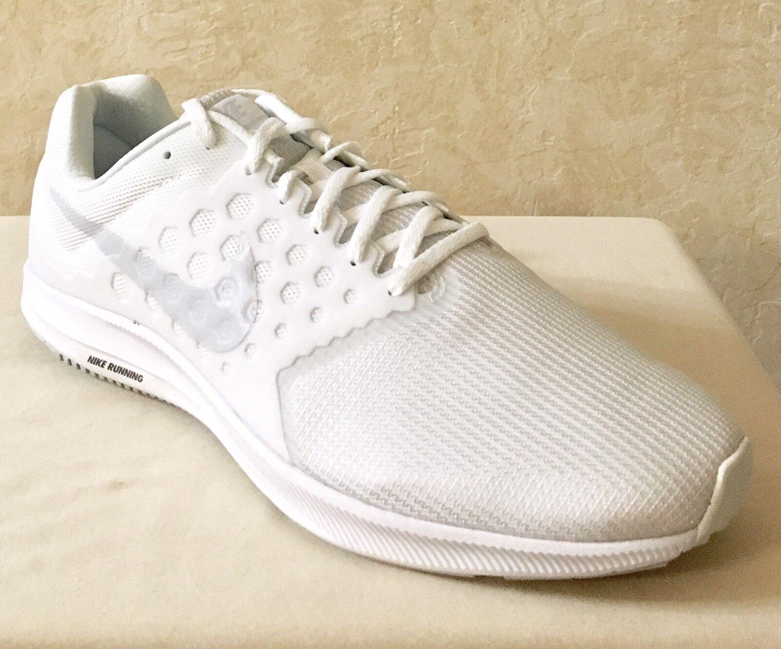 Men Nike Downshifter 7 (4E) Running/Lifestyle Shoes White Platinum 852460-100