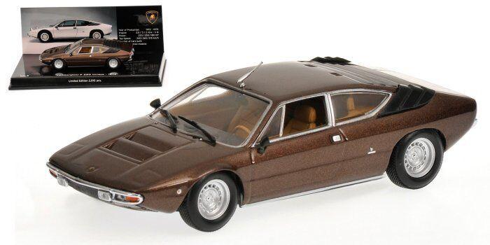 LAMBORGHINI Urraco 1972 Marronee 1 43 MODEL 436103320 Minichamps