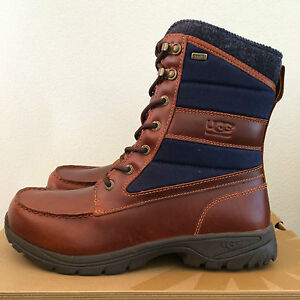 cc1f0e9a41f UGG Mens Size 11 Brown Wynton Waterproof Leather Canvas Boots ...