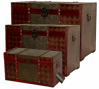 Antike Schatztruhe Truhe Kiste Boxen Holztruhe Piratenkistee Holzkiste Deko