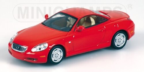 Lexus Sc430 Cabriolet 2001 Red 1 43 Model MINICHAMPS