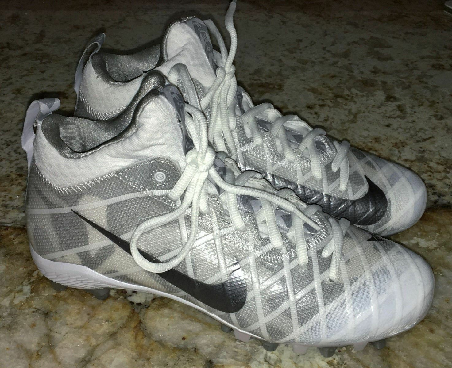 NIKE Alpha Field General Elite Camo White Grey TD Football Cleats 9.5 10.5 11 16