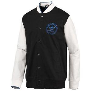 Adidas-Originals-Varsity-Veste-Noir-Blanc-SPO-Rare-Deadstock-Trefoil-Homme