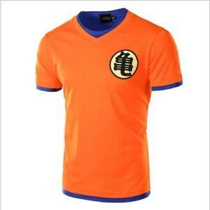 Nuevo-anime-japones-son-Goku-Dragon-Ball-Z-Naranja-Disfraz-De-Manga-Corta-Camiseta