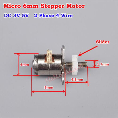 2-phase 4-wire Mini Stepper Motor DC 3V 5V Micro Linear Screw Slider Moving Nut