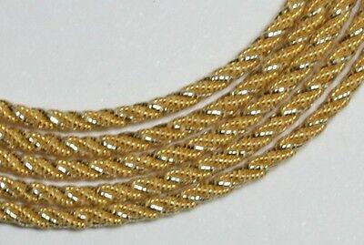Benton & Johnson Goldwork-Grecian Twist- GILT metal embroidery thread-many sizes