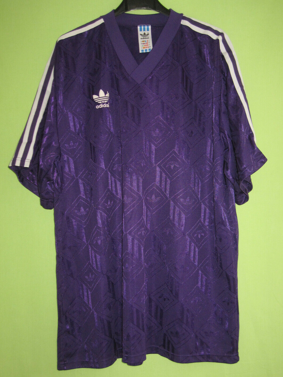 Maillot Adidas purple vintage 90'S Jersey Football Trefoil Toulouse - XL
