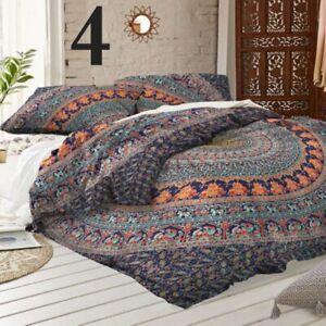 Indian-Boho-Elephant-Mandala-Quilt-Duvet-Cover-Bedding-King-Size-Doona-Cover-Set