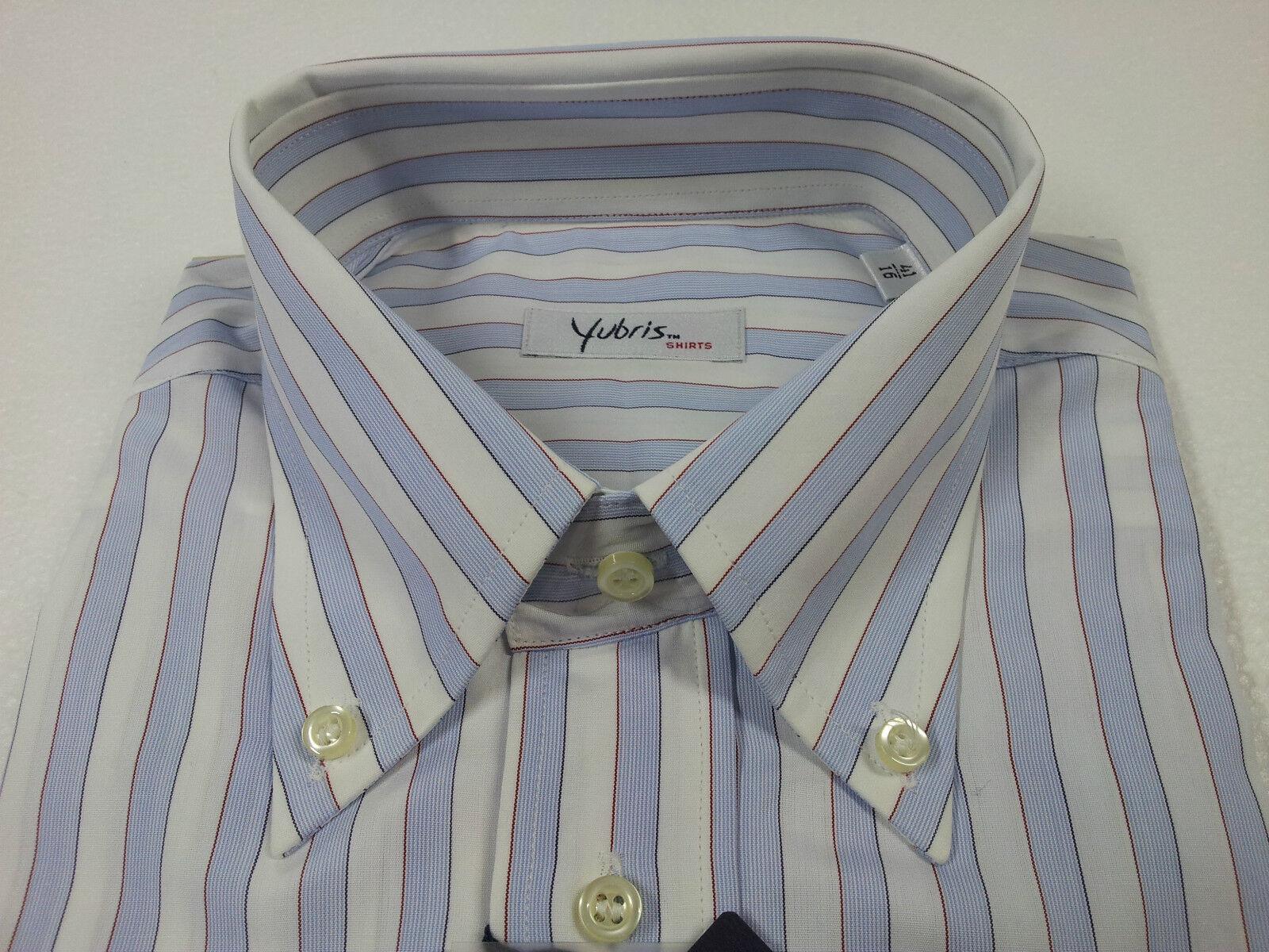 YUBRIS camicia camicia camicia uomo rigata 100 % cotone doppio ritorto vestibilità regolare d693de