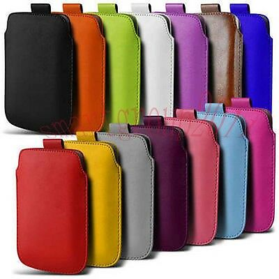 For Samsung Galaxy Phones PU Leather PULL Cord TAB Pouch Wallet Bag Cover Case