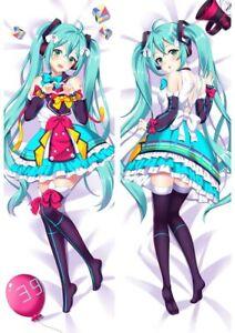 "Miku Vocaloid Dakimakura Anime Body Hugging Pillow Cover Case 150x50 59/"" New 1"