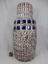 "Very rare 70´s design XXL Schlossberg Keramik "" Capri "" Fat Lava vase 275 55 cm"