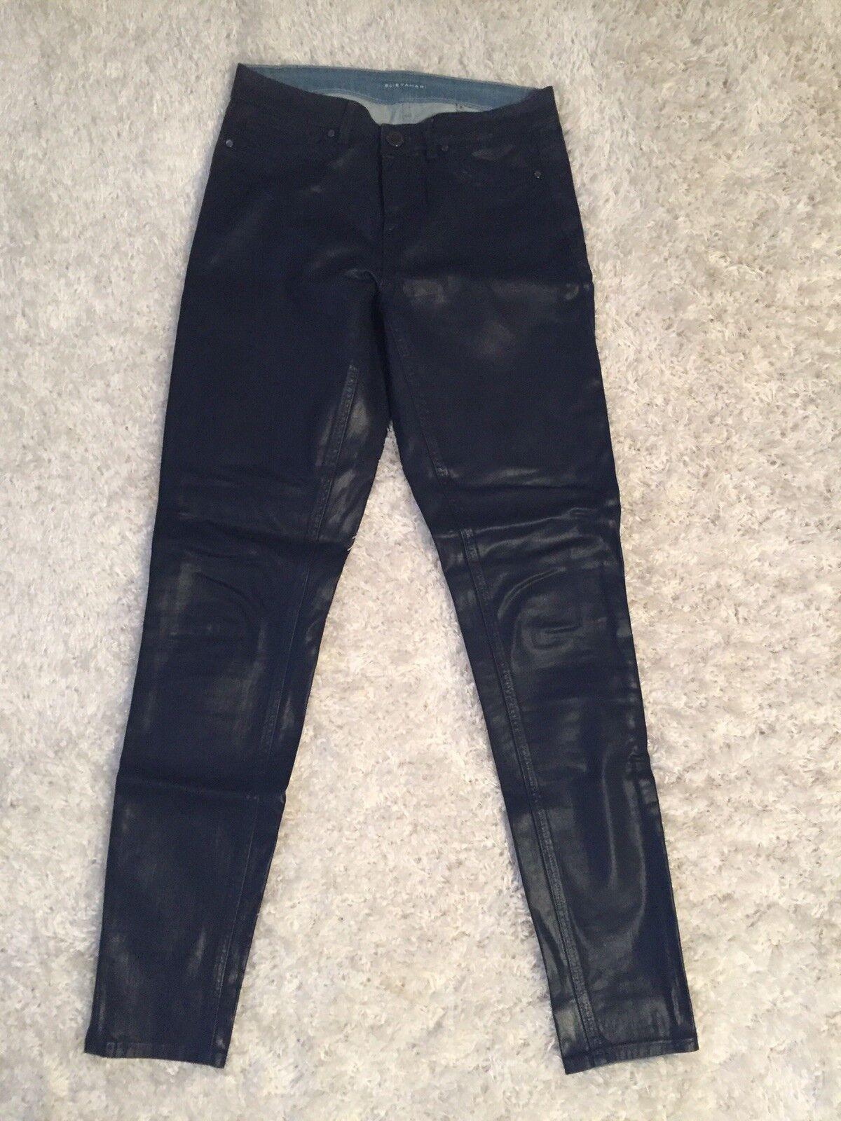 Woman's Sz 25  Waist bluee Waxed Elie Tahari Jeans- Slim Cut
