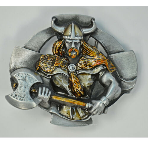 Viking Warrior Medieval Buckle Odin Mythology Belt Buckle 003