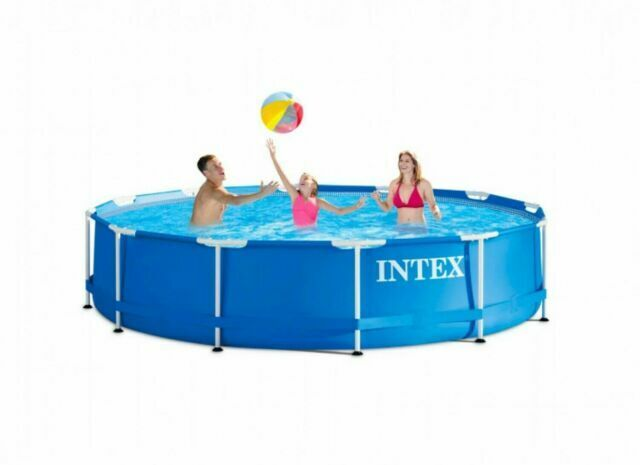 Intex 12 X 30 Metal Frame Above Ground Pool With Filter Pump For Sale Online Ebay