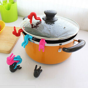 2PCS-Silicone-Holder-Cooking-Gadget-Spill-proof-Lid-Kitchen-Chopstick-Rest-Chic