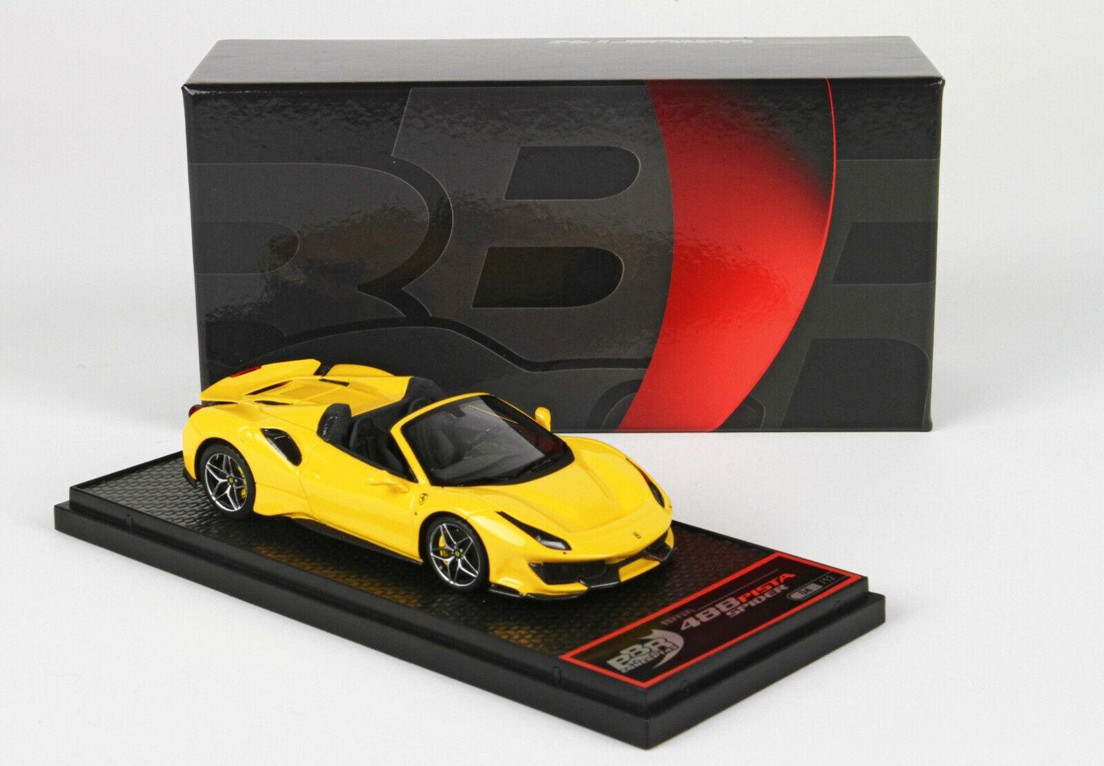 Ferrari 488 Pista Spider yellow Modena lim.e 06 12 pcs 1 43 BBRC218F1 BBR MODELS