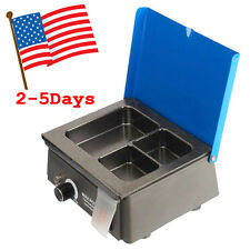 USA Dental 3 Well Analog Wax Melting Dipping Pot Heater Melter Lab Equipment FDA