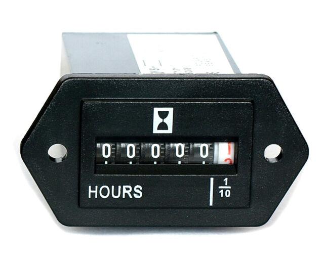 Hour Meter Gauge for Generator Engine, non resettable.