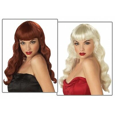 Pin Up Girl Costume Wig Adult Womens Sexy 1950's Hollywood Diva Halloween