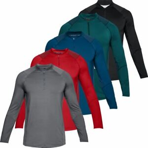 UNDER-ARMOUR-2019-MENS-HEATGEAR-MK-1-RAID-2-0-ZIP-LS-GYM-FITNESS-TOP