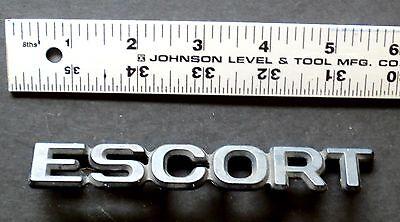 Ford Escort Boot Badge Black Emblem MK2 OEM JF6199 Excellent Condition w/Pins