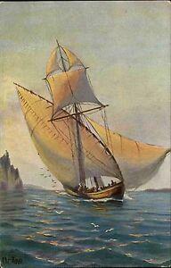 Schiffe-1910-Marine-Galerie-Nr-254-Segelschiff-Ship-Corsar-Kuenstler-AK-Seefahrt