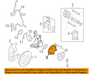 SUBARU-OEM-Legacy-Brake-Front-ABS-Tone-Exciter-Reluctor-Ring-Rotor-26750AA003