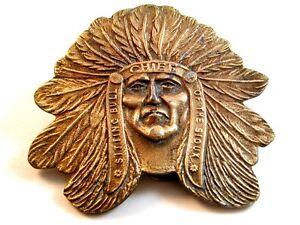b178262e69f Laiton Vintage Assis Bull Chief Of The Sioux Indien D Amérique ...