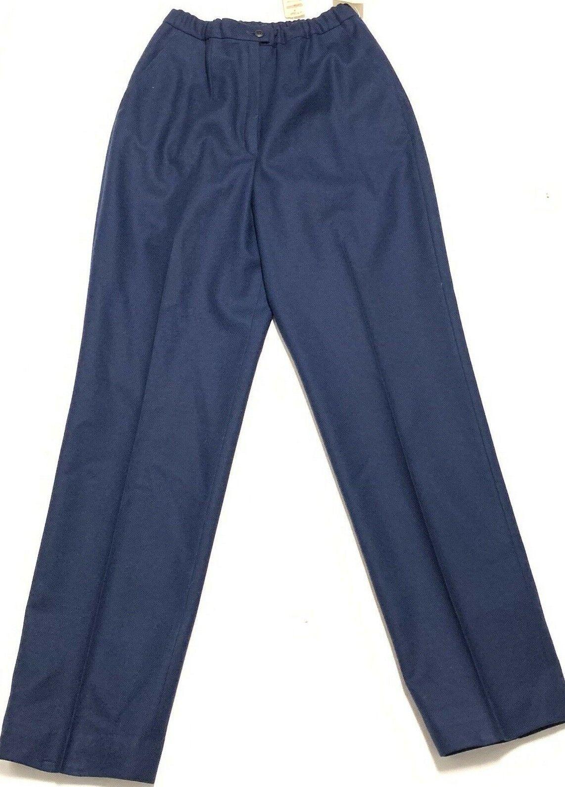 VTG Pendleton Womens Wool Pants Size 6 NWT bluee High Waist