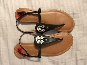 release date detailed look fashion style Tommy Hilfiger Genei Sandals Us 10. Black | eBay