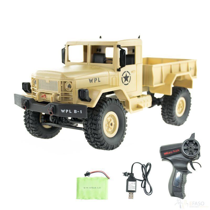 Camion Militare Radiocouomodato B-14 - 2.4 GHz con trazione integrale Con Luci