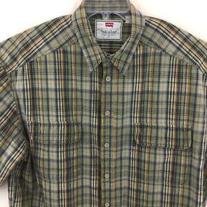 Levi-039-s-Men-039-s-Short-Sleeve-Button-Down-Shirt-Size-XL