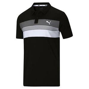 PUMA Men's Essential Sport Stripe Jersey Polo Shirt