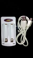 Travel Battery Charger AA, AAA + USB Power Cable for MP3 players, Cameras, Toys