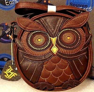 Loungefly Owl Crossbody Bag Embroidered W Lique Details Faux Leather New Ebay